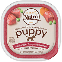 Nutro Puppy Tender Beef & Vegetable Recipe Cuts In Gravy Dog Food Trays
