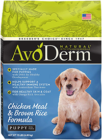 AvoDerm Natural Dog Food for Puppies, Senior, Small Breed and Large Breed