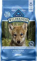 Blue Buffalo Wilderness Puppy Chicken Recipe Grain-Free Dry Dog Food