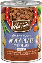 Merrick Grain-Free Puppy Plate Beef Recipe Canned Dog Food, 12.7-oz, case of 12