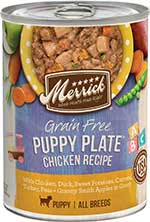 Merrick Grain-Free Puppy Plate Recipe Canned Dog Food