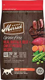 Merrick Grain-Free Real Buffalo, Beef + Sweet Potato Recipe Dry Dog Food