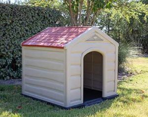 Internet's Best Outdoor Dog House | Comfortable Cool Shelter | Durable Plastic Design | Home Kennel | Indoor or Outdoor Use