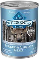 Blue Buffalo Wilderness Turkey & Chicken Grill Grain-Free Puppy Canned Dog Food