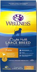 Wellness Complete Health Natural Dry Large Breed Puppy Food, Chicken, Salmon & Rice,