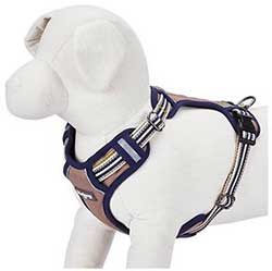Blueberry Pet 3M Reflective Multi-Colored Stripe Padded Dog Harness