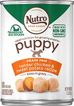 Nutro Puppy Grain-Free Tender Chicken & Sweet Potato in Gravy Recipe Canned Dog Food