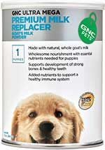 GNC Pets Ultra Mega Premium Milk Replacer Goat's Milk Puppy Powder Formula