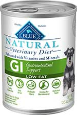 Blue Buffalo Natural Veterinary Diet GI Gastrointestinal Support Low Fat Canned Dog Food