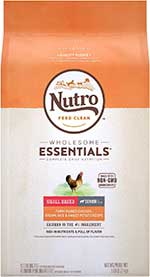 Nutro Wholesome Essentials Small Breed Senior Farm-Raised Chicken, Brown Rice & Sweet Potato Recipe Dry Dog Food,