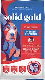 Solid Gold Fit & Fabulous Low Fat/Low Calorie with Fresh Caught Alaskan Pollock Adult Dry Dog Food
