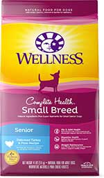 Wellness Small Breed Complete Health Senior Deboned Turkey & Peas Recipe Dry Dog Food