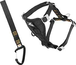 Kurgo Tru-Fit Smart Harness with Steel Nesting Buckles Enhanced Strength, Black