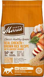 Merrick Classic Healthy Grains Real Chicken + Brown Rice Recipe with Ancient Grains Adult Dry Dog Food