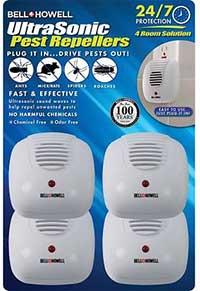 Bell + Howell Ultrasonic Pest Repellers, 4 pack