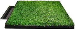 Downtown Pet Supply Pee Turf Portable Dog Potty with Drawer, 20 x 25-in