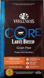 Wellness CORE Grain-Free Large Breed Chicken & Turkey Recipe Dry Dog Food,
