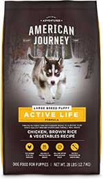American Journey Active Life Formula Large Breed Puppy Chicken, Brown Rice & Vegetables Recipe Dry Dog Food