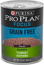 Purina Pro Plan Focus Puppy Classic Turkey Entree Grain-Free Canned Dog Food,
